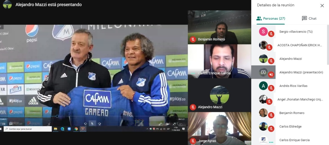 Liga1 Movistar realizó conversatorio de marketing con Millonarios, Racing y Universidad Católica